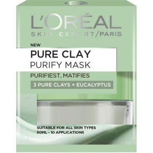 Masca purifianta pentru matifierea tenului L'Oreal Paris Pure Clay